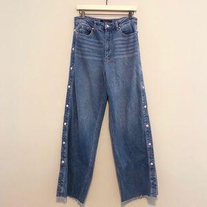 Rachel Roy Split Side Snap Button Jeans - Size 30